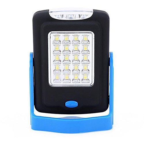 Générique Portable Mini COB LED Tente de Camping lumière d'urgence Lampe de Travail Portable Lampe de Poche Torche pour l'extérieur – Bleu