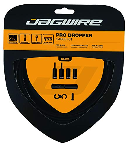 Jagwire Pro Dropper Complete Adult Unisex Kit, Black, One Size