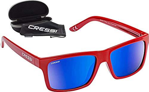 Cressi Bahia Flotantes Sunglasses Gafas De Sol Deportivo, Unisex adulto, Rojo/Azul Lentes espejados