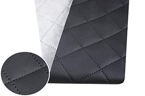 Tukan-tex (9,8€/m) Kunstleder Gesteppt Möbel Textil Meterware Polster Stoff PU - Möbelstoff (Dunkelgrau 896)