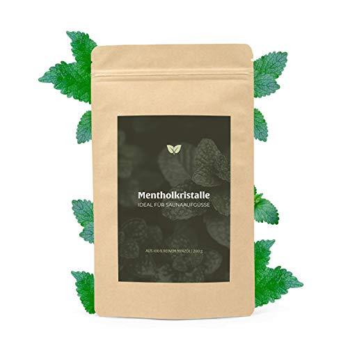DIYer® - Mentholkristalle Saunakristalle – aus 100% reinem Minzöl - pharmazeutische Qualität für Sauna Aufgüsse - große Menthol Kristalle - 200g