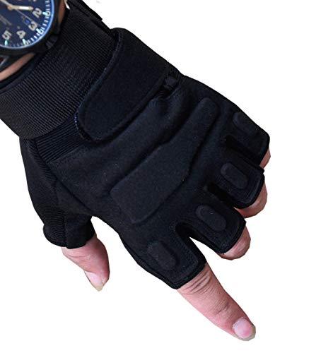 Générique Gants Escalade Chasse Sport Randonnée Wearproof Multifonctionnel Pour Hommes Femmes Gants,Black-XL