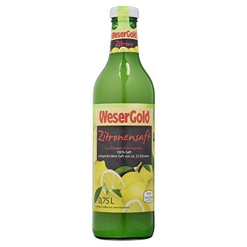 Wesergold Zitronensaft aus Zitronensaftkonzentrat (1 x 750 ml)