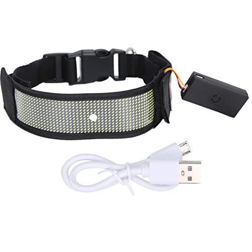 Cinturón Reflectante LED, Cinturón LED para Correr Cinturón con luz de Seguridad Intermitente Cinturón USB Recargable Fácil de Usar para Caminar para Andar en Bicicleta para Correr