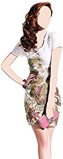 White Polyester Casual Dress For Women