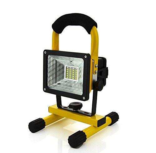 KEEDA Lumière d'inondation de Travail de LED, 30W 24 LED Projecteur d'urgence Rechargeable Lumière, Portable Hand Lamp,Lumières Extérieures de Camping,Feux de Sécurité Rotatifs à 360 °