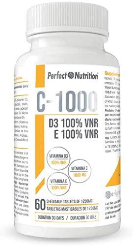 Vitamina C 1000 mg Vitamina E Vitaminas D3 pura vitaminas masticables multivitaminico para hombre, mujer y niños aumenta tus defensas refuerza el sistema inmunologico