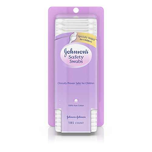 Johnson's Safety Swabs, Gentle Baby Ear Cleaning, 185 Count
