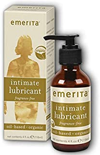 Emerita Intimate Lubricant   Lubricant for Women   Vitamin E For Healthy Skin Support   Vegan, Without Parabens (4oz Oil-Based, Unscented)