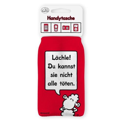 Wortheld Sheepworld Handysocke LÄCHLE