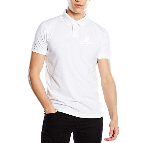 EVE JOHN Panera Bread Symbol Polo Customized White T Shirts for Men Cotton Wicking
