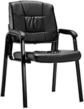 KYK Set of 2 PU Conference Reception Office Guest Armchair (Color : Black)