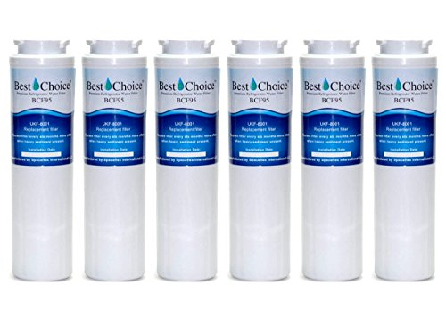 Best Choice UKF8001 Refrigerator Water Filter Compatible With Maytag UKF8001AXX UKF8001P Whirlpool 4396395 469006 EveryDrop Filter 4 EDR5RXD1 Puriclean II Certified Cartridge (6-Pack)