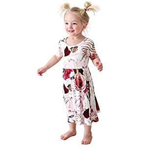 Posh Peanut Little Girls Dresses – Baby Clothes from Soft Viscose from Bamboo – Perfect Kids Summer Dress
