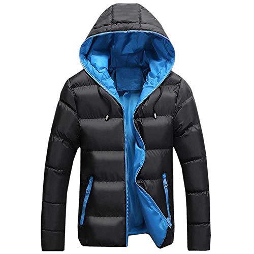 Hochwertige Jacken für Herren, Winter, lässig, Outwear, Windbreaker, solide, schmale Passform, mit Kapuze, Übergrößen S-5XL Gr. XXXXX-Large, schwarzblau