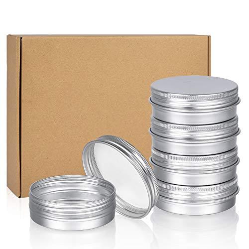 Alluminio Lattina Lattine, Sopito Lattine rotonde in metallo da 24 pezzi da 2 once Piccola latta Contenitori con coperchio a vite Scatole da viaggio vuote per candele, salve, cosmetici