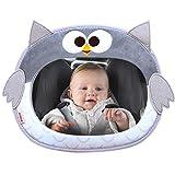 Babyspiegel für Auto Baby-Plüsch-Karikatur-Tier Autospiegel-Rücksitz-Fahren Shatterproof Big and Clear Rückansicht Ruhe zu halten EIN Auge auf Baby 25x30cm für Eltern, Die mit kleinen Kindern Reisen