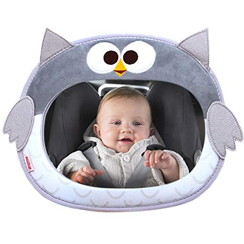 Why Should You Buy Baby Car Mirror Baby Plush Cartoon Animal Car Mirrors Back Seat Driving Shatterpr...