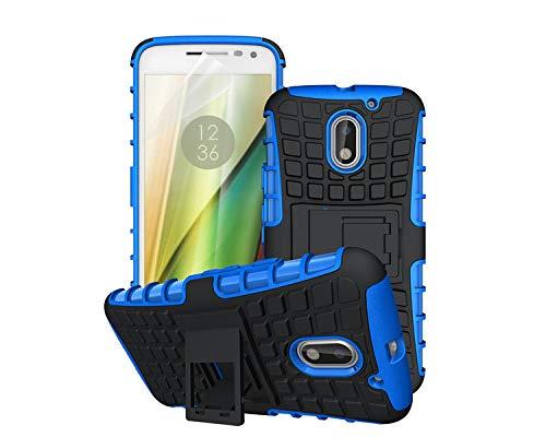 betterfon | Outdoor Handy Tasche Hybrid Hülle Schutz Hülle Panzer TPU Silikon Hard Cover Bumper für Lenovo Moto E3 Blau
