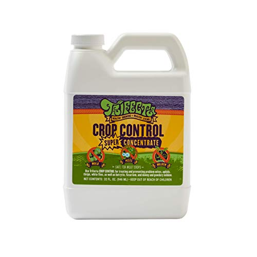 Trifecta Crop Control Super Concentrate All-in-One Natural Pesticide, Fungicide, Miticide, Insecticide, Help Defeat Spider Mites, Powdery Mildew, Botrytis, Mold and More on Plants 32 OZ