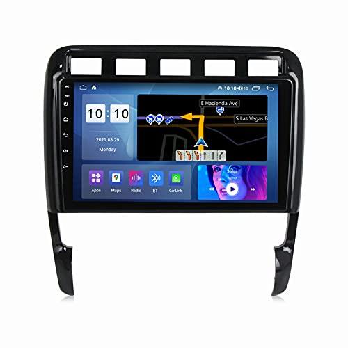ADMLZQQ Android 10 Multimediale Autoradio Stereo per Porsche Cayenne 2002-2010 Touch Screen QLED di Navigazione GPS con SWC/Carplay/Dsp/Vivavoce Bluetooth + Fotocamera Posteriore,M300S8core3+32