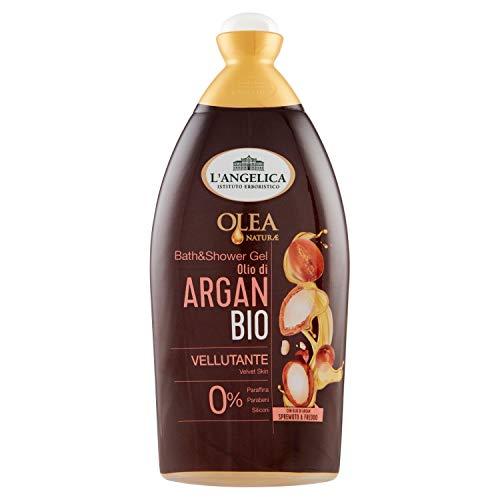 L Angelica, Bagnodoccia Vellutante Olio Bio di Argan, Bagnoschiuma, Effetto Vellutante, Senza Parabeni, Confezione da 500 ml
