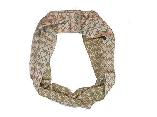 Michael Michael Kors Women`s Logo Infinity Loop Metallic Scarf (Cream(538199C151)/Metallic, One Size)
