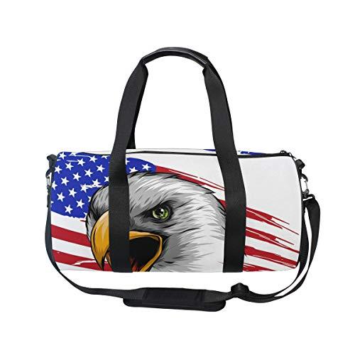 MNSRUU Eagle Reisetasche mit USA-Flagge, groß, Unisex, hohe Kapazität, großes Gepäck, Sporttasche