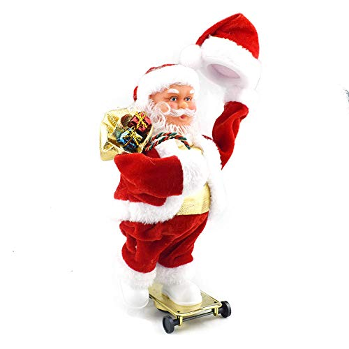 MUSJOS Patineta Shake Hat Dynamic Papá Noel, Juguete Eléctrico De Papá Noel...