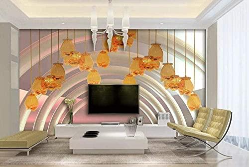 XHXI Arte Flor Cristal Fondo de cristal 3D Pintura de pesca de pared 3D Salón individual Habitación HD Restaurante Casa 3D papel Pintado de pared tapiz Decoración dormitorio Fotomural-300cm×210cm