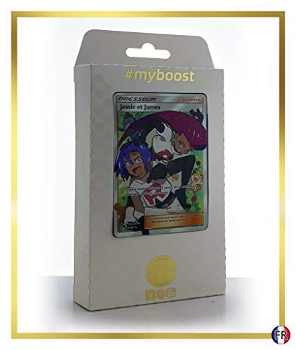 Jessie et James 68/68 Dresseur Full Art - Ultraboost X Soleil & Lune 11.5 Destinées Occultes - Coffret de 10 Cartes Pokémon Françaises