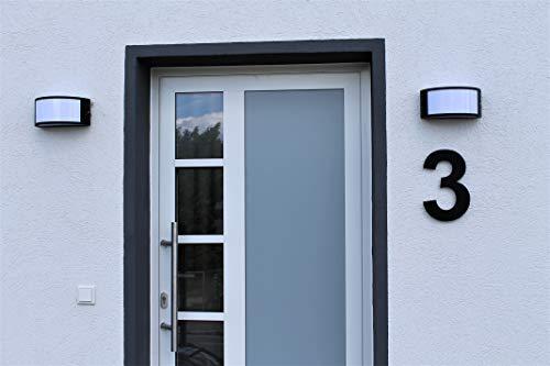 Hausnummer Satiniert Matt Acryl Schwarz RAL: 9005 - Türnummer - Post Nummer - Plexiglas