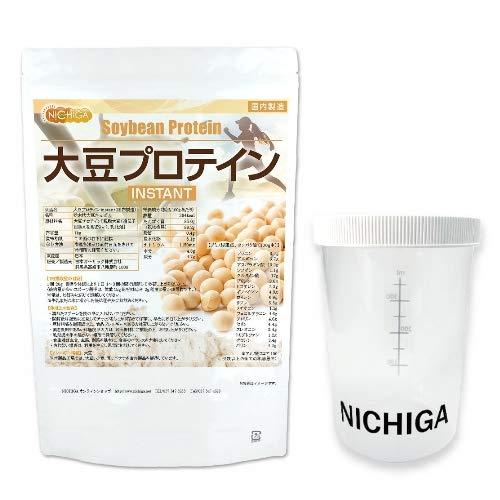 <シェイカー セット> 大豆プロテイン instant (国内製造)1kg 遺伝子組み換え不使用 [02] NICHIGA(ニチガ) ソイプロテイン 冷たい牛乳や豆乳にも溶けやすく改良