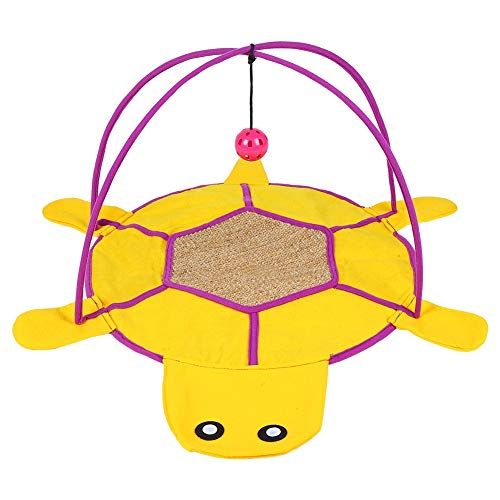 stronerliou Pet Play Tent Activity Mat Bed Cat Exercise House with Ball Bell Catnip Toys