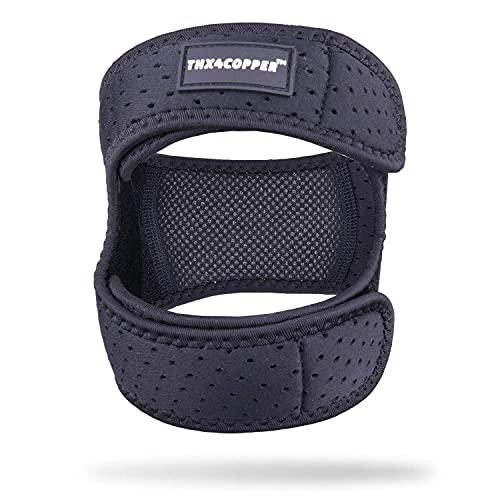 Thx4COPPER Rodillera de compresión para el tendón rotuliana, alivio del dolor, ajustable, rodillera para rodilla, rótula, rodillera para corredor, para saltar, tenis, artritis