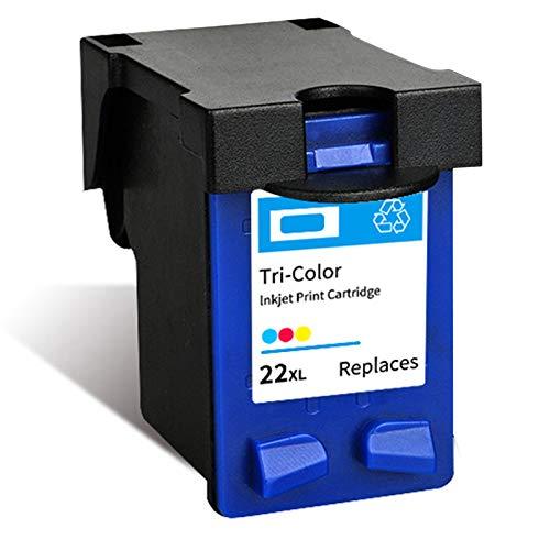 Cartucho de tinta 22XL 702XL, repuesto de alto rendimiento para impresora HP Deskjet 3910 D1311 F2120 Officejet J3508 J3606 J3608 J5508 tinta negra y tricolor 1 tricolor