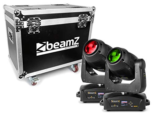 BeamZ Professional IGNITE180B Set: 2x 180 Watt Beam Moving Head mit Rollcase