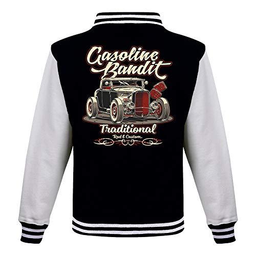 Gasoline Bandit Rockabilly Baseball College Jacke - Hot Rod Traditional L