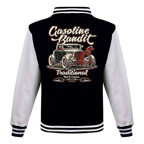Gasoline Bandit Rockabilly Baseball College Jacke - Hot Rod Traditional 2XL