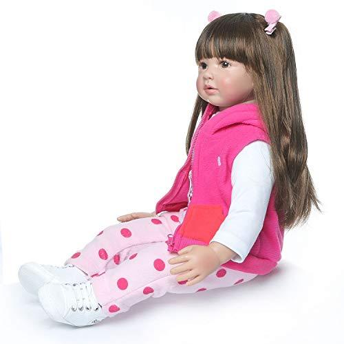 SPIDER NI Simulation nette Prinzessin Langes Haar Puppe 60cm Rosa Puppe Spielzeug Das beste Geburtstags-Geschenk for Kinder (ohne Plüschtiere)