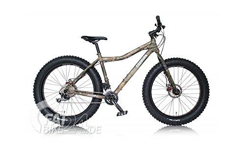 COGBURN CB4 Fat Bike Fatbike Mountenbike MTB mit Original Raltree Tarnlack und Surly Rolling Darryl Felgen ( L/XL grün/Realtree XTRA)