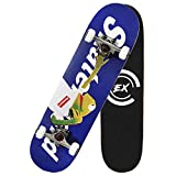 THMEX Skateboards Completes Skateboard and pro Skateboards for Beginners 7 Layer Canadian Maple Double Kick Concave Standard and Tricks Skateboards for Kids, Beginners,and Adults (020)
