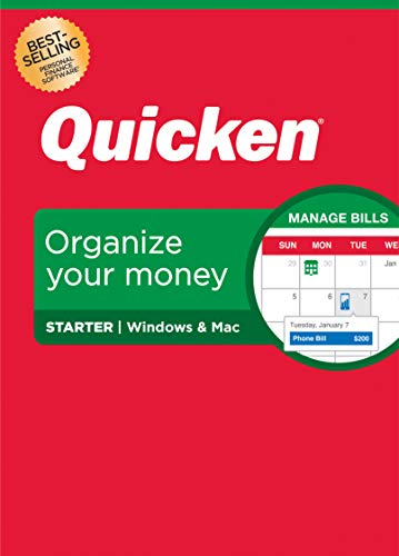 Quicken Starter Personal Finance – Start taking control of your money – 1-Year Subscription (Windows/Mac)