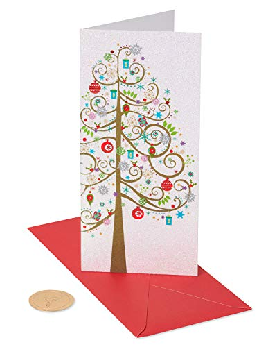Papyrus Holiday Money or Gift Card Holder Cards Boxed, Christmas Tree (16-Count)