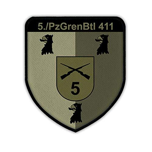 Copytec 5 Kompanie PzGrenBtl 411 Wappen Panzergrenadier Bundeswehr Emblem #15325