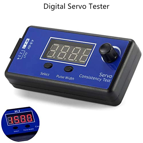 ZHITING Digital Servo Tester, ESC Consistency Tester Speed Controller (3 Modes, Synchronized Output Control 4 Servos) for RC Helicopter Airplane Car Motor Throttle Display