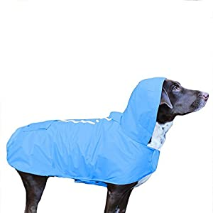 Frenchie Mini Couture Waterproof Dog Raincoat with Fleece Lining, Blue