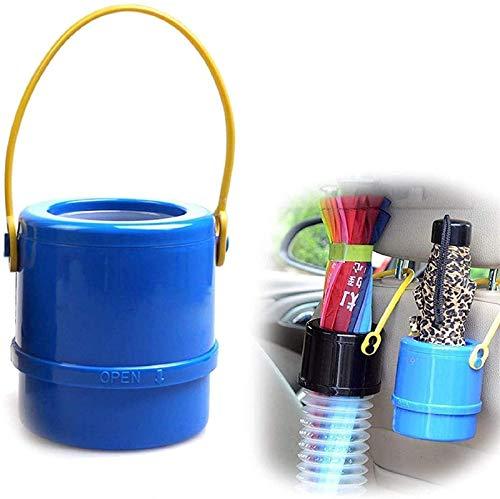 Cubo de almacenamiento plegable para automóvil, Cubo de almacenamiento de basura para automóvil para bastones Bastones Paraguas / Portavasos, Bolsa organizadora impermeable multifuncional (Azul 1PC)