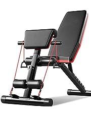 Acobonline Banco de Pesas Ajustable para Fitness Banco de Musculación Multifunción para Entrenamiento de Cuerpo Entero Banco Abdominales Plegable Banco Gimnasio