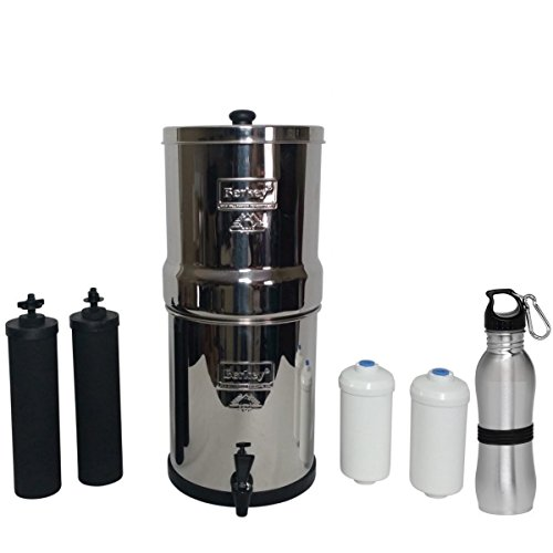 Travel Berkey Water Filtration System with 2 Black Purficiation...